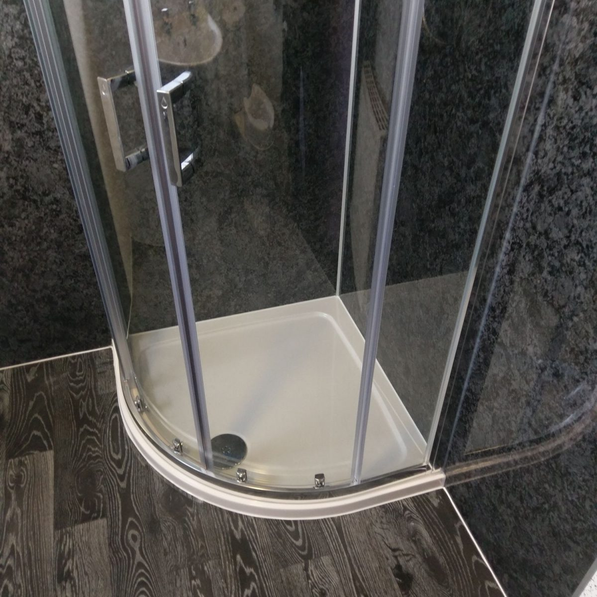 Wet wall bathroom fitting